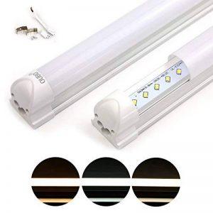 OUBO Réglette LED 120cm T8 Support Tube Fluoescent Eclairage de cuisine 18W Blanc Chaud 3000k Couverture Laiteux SMD 2835 G13 de la marque OUBO image 0 produit