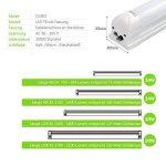 OUBO Réglette LED 150cm T8 Support Tube Fluoescent Eclairage de cuisine 23W Blanc Chaud 3000k Couverture Laiteux SMD 2835 G13 de la marque OUBO image 4 produit