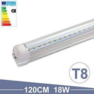 OUBO Tube LED T8 Lampe Lumière Fluorescente 120cm avec Douille 18.00 W Blanc Naturel 4000k Couverture transparente pour Parking, garages, bureaux, couloirs ou ateliers etc. de la marque OUBO image 0 produit