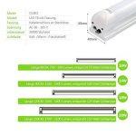 OUBO Tube LED T8 Lampe Lumière Fluorescente 120cm avec Douille 18.00 W Blanc Naturel 4000k Couverture transparente pour Parking, garages, bureaux, couloirs ou ateliers etc. de la marque OUBO image 4 produit