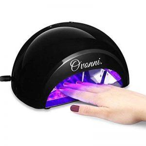 Ovonni Sèche Ongles Lampe LED pour Ongles Vernis 12W Electrique Portable pour Nail Art avec 60 Empoules LED, Minuteur 4 Positions 30s, 60s, 90s, 30min pour Tous Types de Gels (Noir) de la marque Ovonni image 0 produit