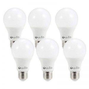 Oxyled 9W E27,6Lot Vis pour maison, 60W Ampoule à incandescence de remplacement, LED 3000K 810lumens, non dimmable, ampoules à économie d'énergie, Blanc chaud de la marque OXYLED image 0 produit