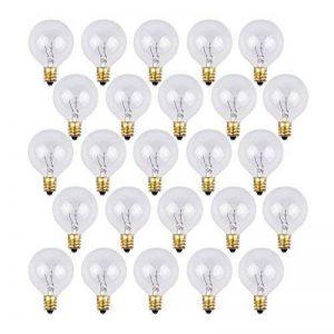 OxyLED G40 Ampoules de rechange pour éclairage de jardin extérieur, avec 25 ampoules incolores blanc chaud, niveau A de la marque OXYLED image 0 produit