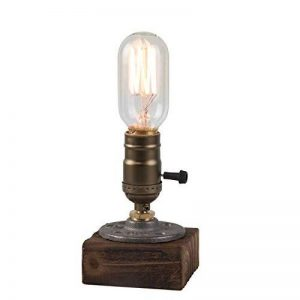 OYGROUP E27 Vintage Wood Blocks Lampe de table Lampe de bureau pour Cafe Bar Studio sans ampoule de la marque OYGROUP image 0 produit