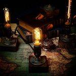 OYGROUP E27 Vintage Wood Blocks Lampe de table Lampe de bureau pour Cafe Bar Studio sans ampoule de la marque OYGROUP image 1 produit