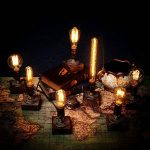 OYGROUP E27 Vintage Wood Blocks Lampe de table Lampe de bureau pour Cafe Bar Studio sans ampoule de la marque OYGROUP image 3 produit
