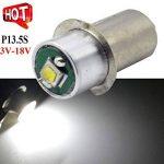 P13.5s Douille mise à niveau 3W LED Cree pour Maglit lampe de poche torche ampoule de phare, 200LM, 3–18V C/D, 6000K Blanc–Positive au sol 3.00 wattsW de la marque Ruiandsion image 2 produit