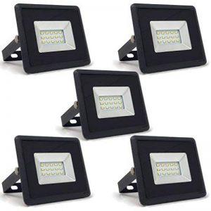 Pacco da 5 - ZONE LED SET - 10W - LED Faretto, LED Proiettori - Blanc (6400K) - 850 Lm - équivalent ampoule incandescente 50W - Angle d'éclairage 110° - Corps noir de la marque Zone LED image 0 produit