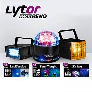 Pack 3 jeux de lumière Zirkus effet Derby + SunMagic ASTRO/UFO + Strobe - Lytor PACK RENO de la marque LytOr image 0 produit