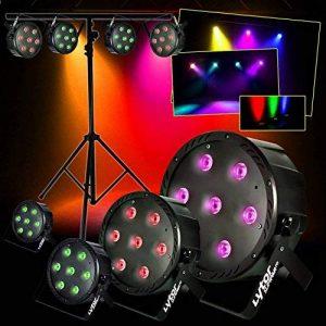 PACK 4 Projecteurs + PORTIQUE SLIMPAR70 ultra plat 7 LEDs (4en1) x 10W RVB/UV/DMX LytOr de la marque LytOr image 0 produit