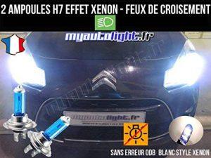 Pack ampoules H7 blanc xenon feux croisement-code pour CITROEN C3 de la marque MyAutoLight image 0 produit
