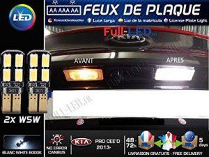 Pack ampoules led éclairage plaque pour Kia PRO CEE'D de la marque MyAutoLight image 0 produit