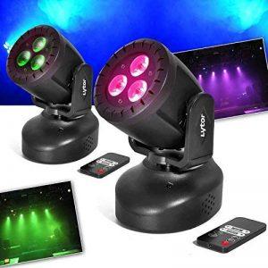 Pack de 2 Jeux de lumières Lytor WASH 3 type Lyre effet WASH à LEDs 3x4W RGB + UV + Télécommande de la marque Lytor image 0 produit