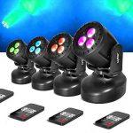 Pack de 4 Jeux de lumières Lytor WASH 3 type Lyre effet WASH à LEDs 3x4W RGB + UV + Télécommande de la marque Lytor image 1 produit