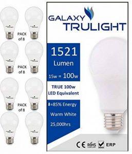 Pack de 8-15W Ampoule LED (100W équivalent) - Galaxy TruLight - Blanc Chaud de la marque Galaxy Trulight image 0 produit