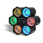 PACK DERBY DJ blanc à LEDs RGBW 4x3W DMX + Chenillard LED + 2 Effets UFO OVNI de la marque Flash image 2 produit