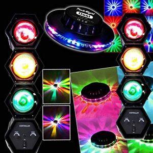 PACK Dj Sono Light Night Jeux de Lumière OVNI LED RVB + 2 Chenillards à 3 Modules de la marque LytOr image 0 produit