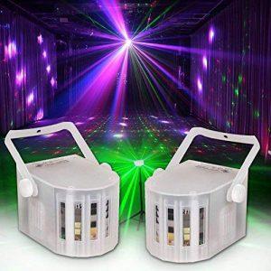 PACK Jeux de lumière Sono DJ LIGHT 2 EFFETS WHITE 3 LEDs RGB de la marque Lytor image 0 produit