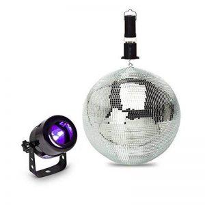 Pack lumière débutant Projecteur à LED UV + Boule à facettes 20 cm + moteur de la marque Expelec image 0 produit