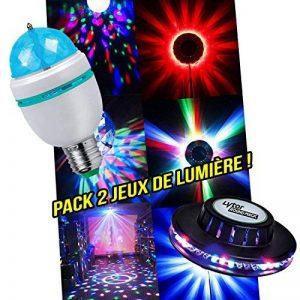 Pack soirée lumière Ampoule à LEDs RVB rotative + Jeu de lumière style OVNI de la marque Lytor image 0 produit