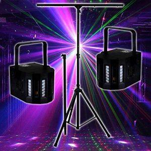 PACK Sono DJ LIGHT Jeux de lumière 2 EFFETS DERBY Noir 4 LEDs RGBW + Portique de la marque Lytor image 0 produit