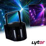 PACK Sono DJ LIGHT Jeux de lumière 4 EFFETS DERBY Noir 4 LEDs RGBW + Portique de la marque Lytor image 2 produit