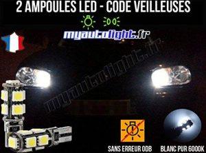 Pack veilleuses à led blanc xenon pour VOLKSWAGEN GOLF 4 de la marque MyAutoLight image 0 produit
