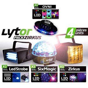 PACK ZIRKUS LytOr 4 Jeux de lumière stroboscope + dôme ASTRO 6 LEDs + Derby 4 LEDs RGBW + effet OVNI de la marque LytOr image 0 produit