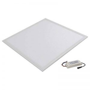 Panneau LED luminaire carré 40W 60x60cm température de couleur blanche naturelle de 4000K à 4500K kelvin. Application idéale pour une maison moderne, un bureau ou un but commercial. Profil en aluminium moulé blanc avec abat-jour mate blanc. La meilleure a image 0 produit