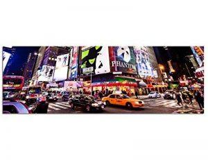 Panoramabild sur toile avec châssis 120 x 40 cm new york time square broadway ampoules lED de la marque Paul Sinus Art image 0 produit