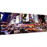 Panoramabild sur toile avec châssis 120 x 40 cm new york time square broadway ampoules lED de la marque Paul Sinus Art image 1 produit