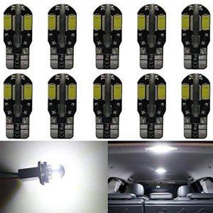 Paquet de 10 T10 194 168 2825 W5W Blanc Canbus Sans Erreur 5730 LED Ampoules 12V, avec Remplacement pour Lampes pour Plaque D'immatriculation, Back Up Eclairage Inversé, Feux Arrière et Stop de la marque AMAZENAR image 0 produit