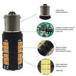 Paquet de 2 - 1056 BAU15S 7507 12496 1156PY Ampoule / Clignotant 3030 60SMD à DEL Non-Polarité Extrêmement Lumineuse Ampoule - Peut-être Besoin de Résistances de Charge pour Fixer L'ampoule LED Rapide Hyper Flash de la marque AMAZENAR image 4 produit