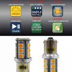 Paquet de 2 1056 BAU15S 7507 12496 Lumière LED Ambre / Jaune Super Lumineuse, 10-30V-DC 5050 18 SMD 1056 5009 Base pour Les Clignotants de Remplacement de la marque AMAZENAR image 4 produit