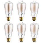 [Paquet de 6]Ampoule De Filament LED Vintage,KINGCOO E27 40W ST64 Squirrel Cage Lampe à Tungstène 220V Rétro Edison Ampoules à incandescence Antique Clair de la marque KINGCOO image 4 produit
