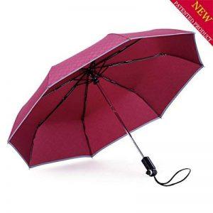 Parapluie, AIGUMI Haute Intensité Voiture Escape Pluie et Ombre Multifonction Automatique Ouverture et Fermeture Parapluie de Sécurité étanche Coupe-vent Avertissement Réfléchissant Fenêtre Cassée (Red -2) de la marque AIGUMI image 0 produit
