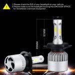 PARKVISION H4 LED Ampoule Phare Conversion Kit Salut-Lo faisceau Lumière Auto Ampoule 72W 6500K 16000 Lumens Cool Blanc Super Bright COB Chips-2 packs (H4) de la marque PARKVISION image 3 produit