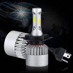 PARKVISION H4 LED Ampoule Phare Conversion Kit Salut-Lo faisceau Lumière Auto Ampoule 72W 6500K 16000 Lumens Cool Blanc Super Bright COB Chips-2 packs (H4) de la marque PARKVISION image 2 produit