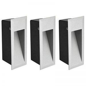 Parlat LED luminaire d´escalier luminaire encastrable dans le mur pour l'extérieur, angulaire, blanche-chaude, 230V, 3 pcs de la marque Parlat image 0 produit