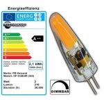 PB-Versand G4 Lot de 3mini-ampoules LED à intensité variable CulotG4 En silicone (gel de silice) 2watts 12V CA/CC Blanc chaud de la marque PB-Versand image 2 produit
