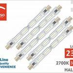 Pegaso Lot de 5ampoules halogènes linéaires R7S Blanc Chaud 2700K de la marque Pegaso image 1 produit