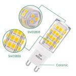 Petite Lampe Ampoule LED G9 GU9 5W 400Lm Economique Remplace Ampoule Halogene 40W Éclairage Blanc Chaud AC220~240V pour Luminaire Lustre Lot de 6 de Enuotek de la marque ENUOTEK image 3 produit
