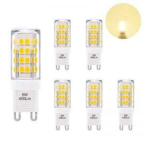 Petite Lampe Ampoule LED G9 GU9 5W 400Lm Economique Remplace Ampoule Halogene 40W Éclairage Blanc Chaud AC220~240V pour Luminaire Lustre Lot de 6 de Enuotek de la marque ENUOTEK image 0 produit