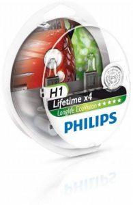 Philips 12258LLECOS2 Lot de 2 ampoules de phare LongLife EcoVision H1 de la marque Philips image 0 produit