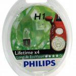 Philips 12258LLECOS2 Lot de 2 ampoules de phare LongLife EcoVision H1 de la marque Philips image 1 produit
