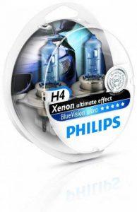 Philips 12342BVUSM Lot de 2 ampoules de phare Blue Vision Ultra H4 de la marque Philips image 0 produit