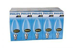 Philips 30600005E, ampoule à incandescence en forme de poire, Verre, transparent, E14 40 wattsW, Lot de 10 de la marque Philips image 0 produit