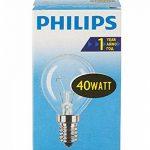 Philips 30600005E, ampoule à incandescence en forme de poire, Verre, transparent, E14 40 wattsW, Lot de 10 de la marque Philips image 1 produit