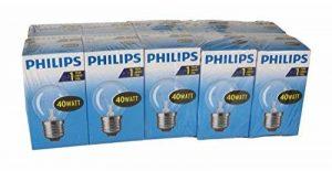 Philips 30600005E, ampoule à incandescence en forme de poire, Verre, transparent, E27 40 wattsW, Lot de 10 de la marque Philips image 0 produit