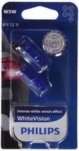 Philips 681372 WhiteVision Effet Xénon W5W Lampe Automobile 12961NBVB2, Set de 2 de la marque Philips image 0 produit